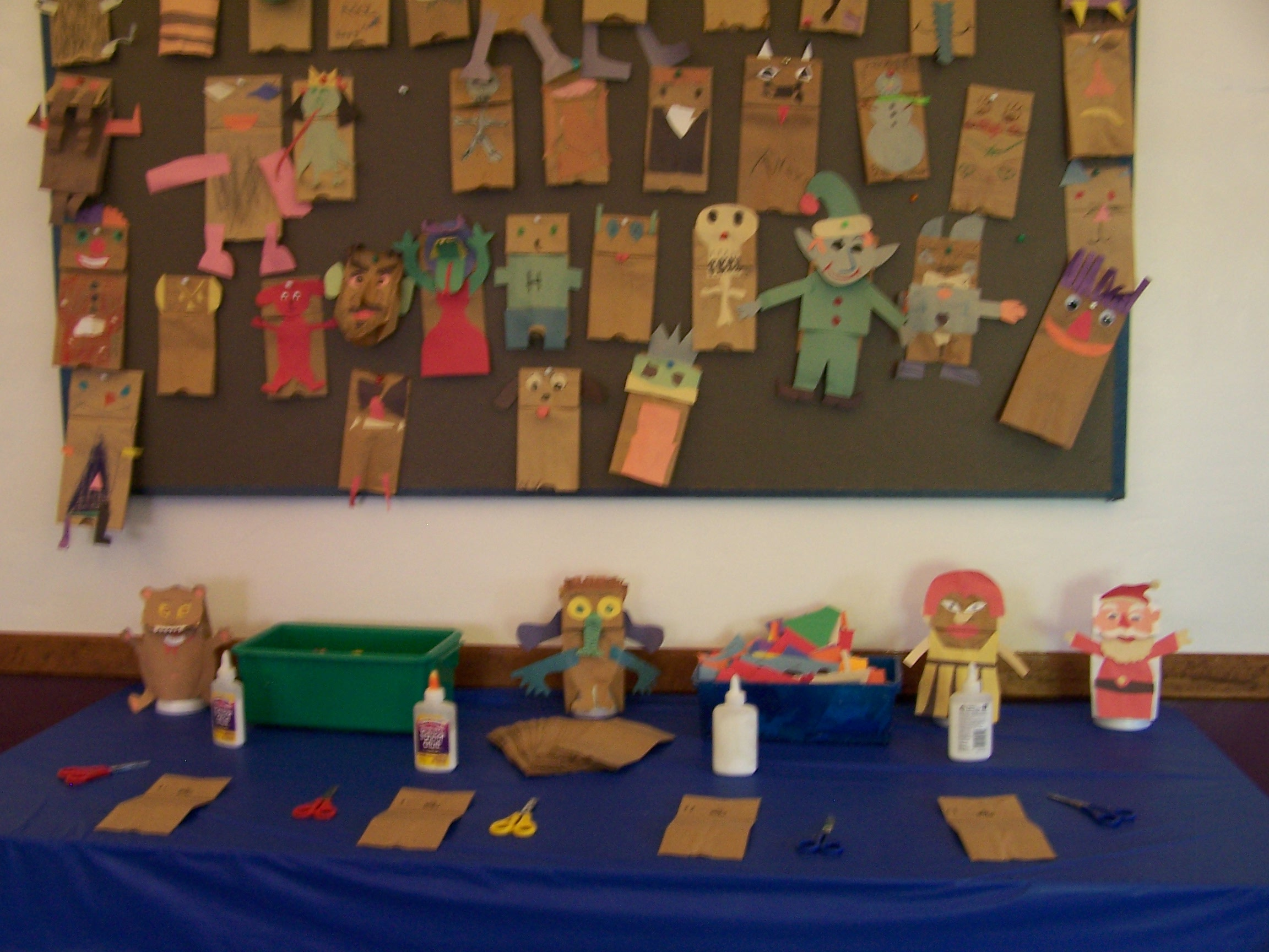 Puppet Making Table